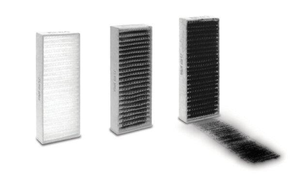 Filtre à poussière de carbone