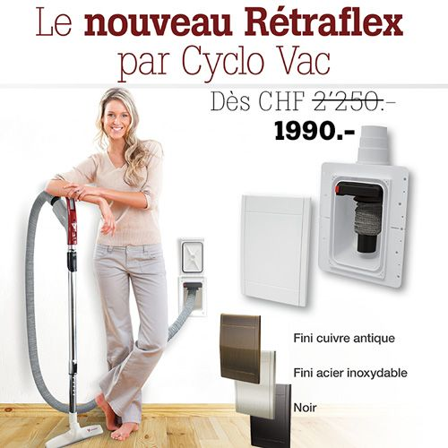 centrale d 39 aspiration cyclo vac h2015 r traflex aspirateur central cyclo vac suisse. Black Bedroom Furniture Sets. Home Design Ideas