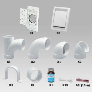 Kit d'installation 1 prise Déco Vac, sans tuyaux PVC