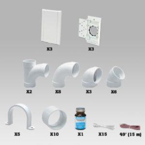 Kit installation 3 prises sans PVC