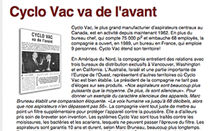 Article presse1 Aspirateur Cyclo Vac