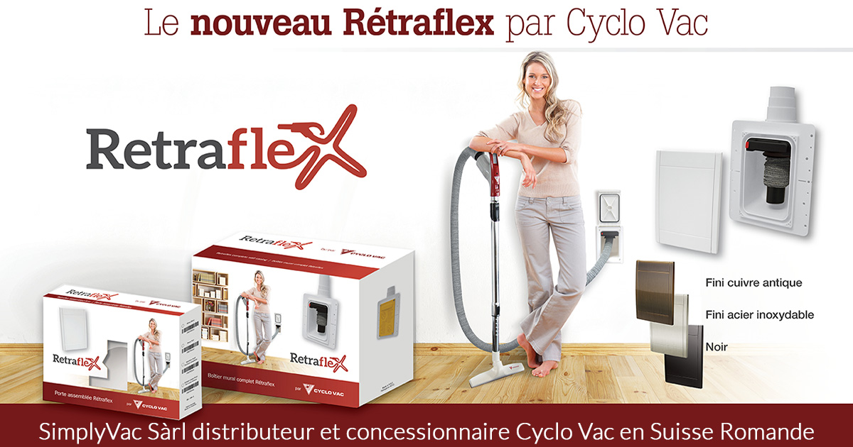aspirateur central aspiration centralis e r traflex cyclo vac suisse. Black Bedroom Furniture Sets. Home Design Ideas