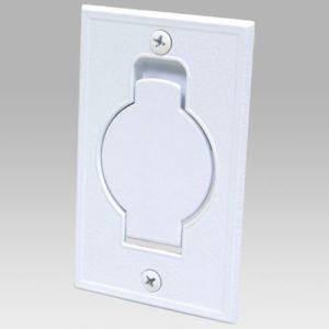 Porte ronde métallique blanche