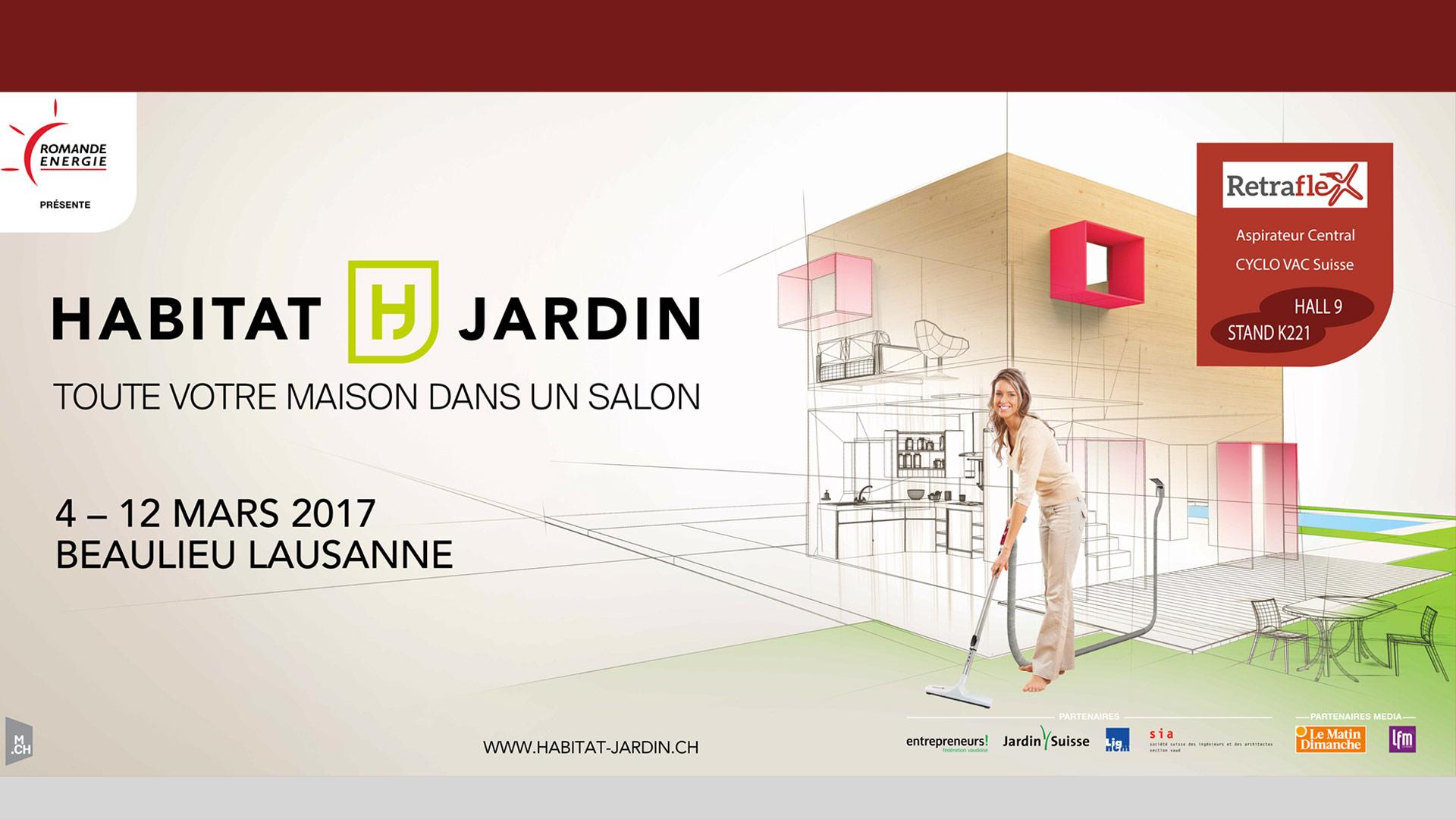 Salon Habitat et Jardin Beaulieu Lausanne Retraflex Suisse